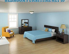 Bedroom Furniture 10 Set 3D model