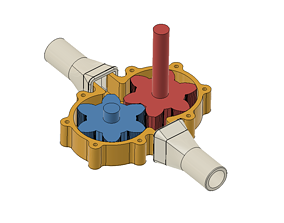 Pump Gear Pump for drilling machine 3D printable model 1