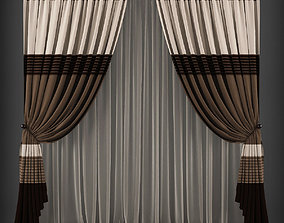 Curtain 3D model 168 realtime