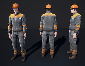 3D model animated Worker