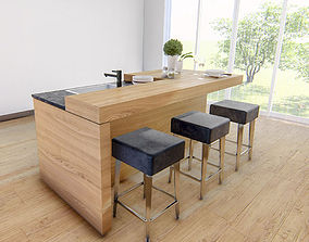 3dnikmodels kitchen Counter 03