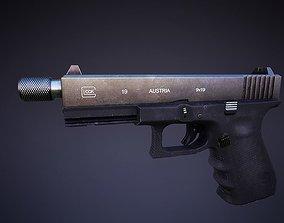 Glock 19 Low-poly 3D model