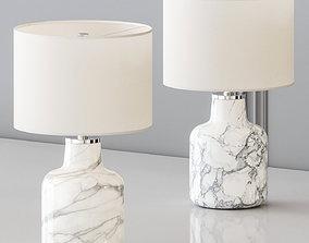 CB2 - LARGE MARBLIZED TABLE LAMP 3D model