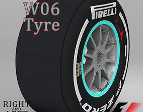 W06 Medium front tyre 3D model