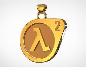 3D printable model Half-Life 2 Logo Pendant