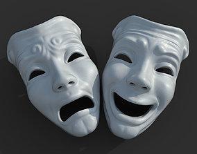 Theater Mask 3D model