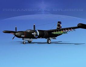 Douglas A-26K Invader Anti Cuba 3D