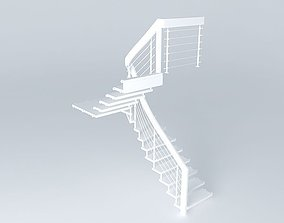 Bolt Staircase Wooden stairs 3D