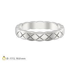 woman 3D printable model N073 wedding ring mini