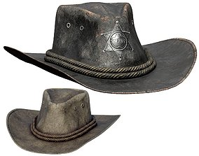 3D model realtime rodeo CowBoy Hat