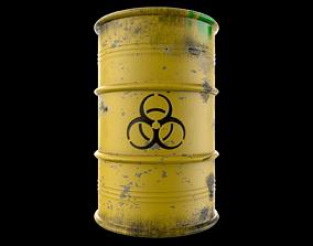 3D asset Atomic Waste Barrel