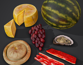 6 Medieval Food Props Version 2 3D model