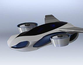 3D model Flying Car - Taihoo 2046 flying concept car
