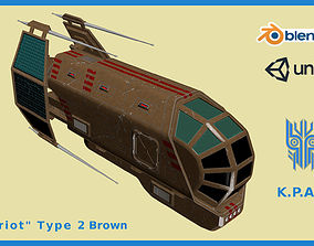 Spaceship Patriot Type 2 Brown 3D asset