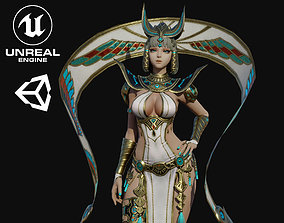 3D model Cleopatra Girl Game Ready