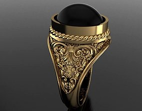 European Pattern ring 3D printable model