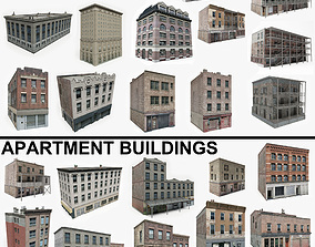 3D model 22 Apartment Buildings Collection