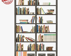 Bookshelves 3D asset