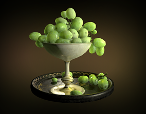3D model Grapes in a Chalice