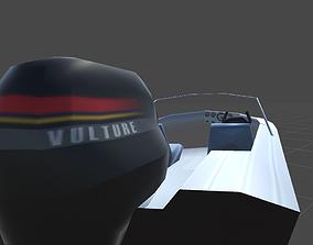 Boat motor boat Vulture 3D asset