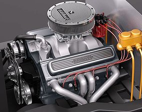 3D Edelbrock Crate Engine V8