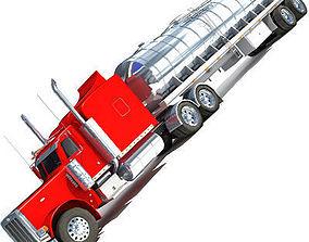 3D Red Tanker Truck 29