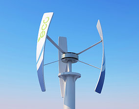 3D model Vertical Wind turbine panel