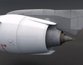 plane 3D model Jet Engine