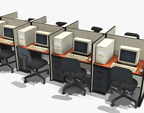 3D asset realtime Office Computers