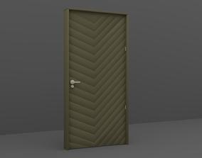 Wood Door 3D model house