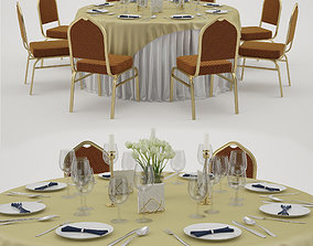 3D Banquet table 5