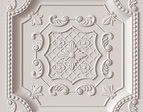 3D model Decorative Ceiling Tile wall