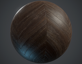 Old chevron Parquet - PBR textures 3D model