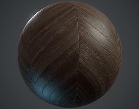 Old chevron Parquet - PBR textures 3D asset