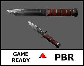 3D asset Knife Ka-Bar