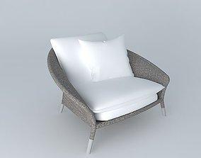 Janus et Cie Strada Lounge Chair 3D model