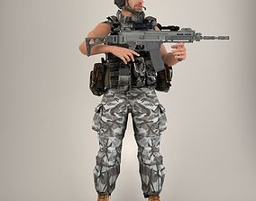 3D model Soldier Lite V2 Rigged