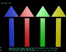 Low poly arrow 19 3D model