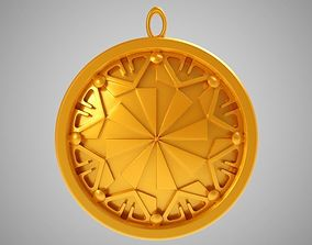 Sun Pendant 3D printable model jewelry