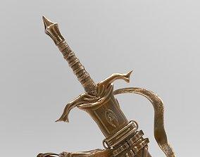 Epic fantasy twohanded sword 3D