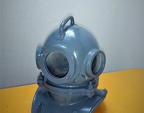 Diving Helmet scuba three-bolt High poly and 3D