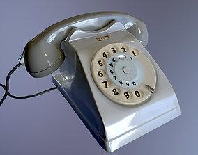Old Phone 70s 80s italian Bigrigio - Pbr game 3D model