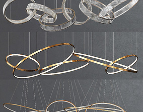 3D model Collection of Ring Chandelier