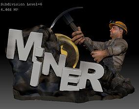 Miner 3D printable model