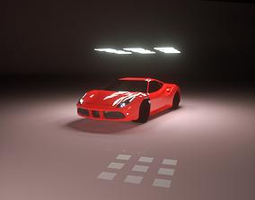 3D motorsport Ferrari 488 gtb