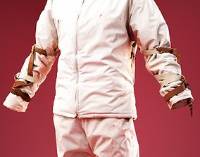 3D model Tied Up Mental Patient Costume