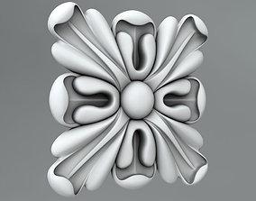 Square decoration 3D model details medallions