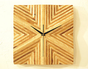 wood Wall clock 3d model for CNC router P4-006