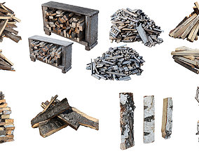 fuelwood Ultra realistic Firewood HQ 3D