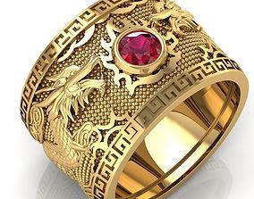 235 Dragon Ring for Men 3D printable model